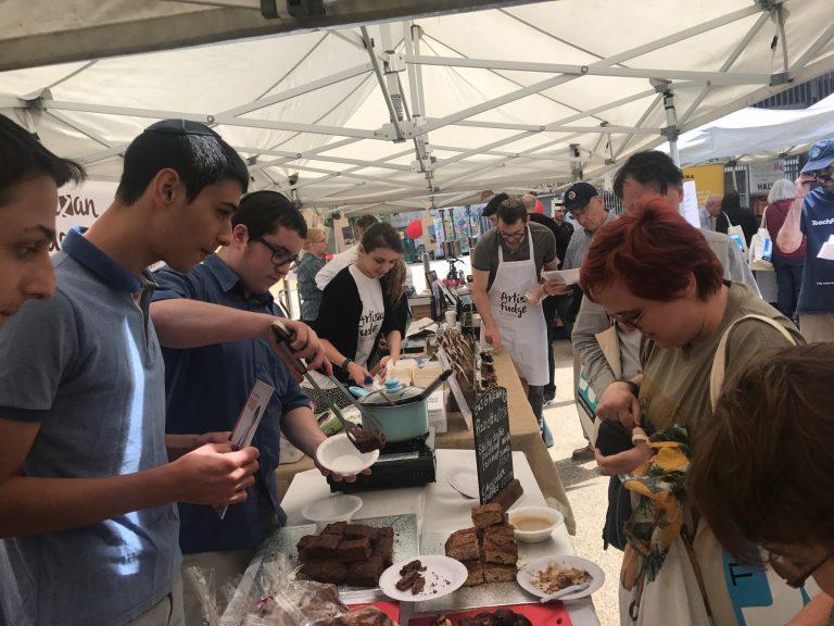 Gateways Food Academy students at Jewish Food Festival
