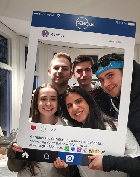 Jnetics_University students following GENEius screening event sharing on social media